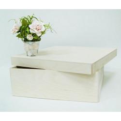 Короб Прованс макси, заготовка для декорирования фанера 3-9мм 32х32х10,5см NZ