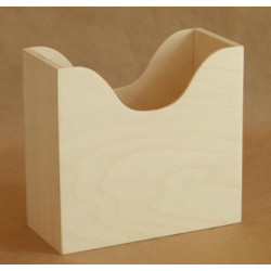 Салфетница Гауди, заготовка для декорирования фанера 3-8мм 18,5х8,5х17см NZ