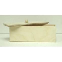 Коробочка чайная длинная с ручкой, заготовка для декорирования фанера 3-6мм 21х7х7,5см NZ