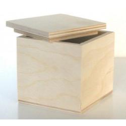 Коробочка чайная Кубик, заготовка для декорирования фанера 3-6мм 7х7х7см NZ