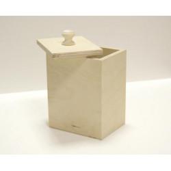 Короб Павлин для сып. продуктов(БЕЗ РУЧКИ!!!), заготовка для декорирования фанера 3-9мм 12х9х16см NZ