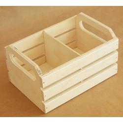 Ящик реечный малый с перегородкой, заготовка для декорирования фанера 6-9мм 20х14х11см NZ
