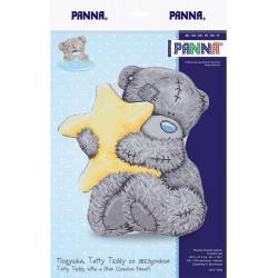 Подушка Tatty Teddy со звездочкой, набор для вышивания крестиком, 36,5х41.5см, 11цветов Panna