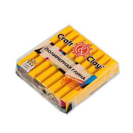 Желтый, полимерная глина, 52гр. Craft&Clay