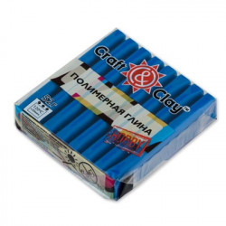 Синий, полимерная глина, 52гр. Craft&Clay