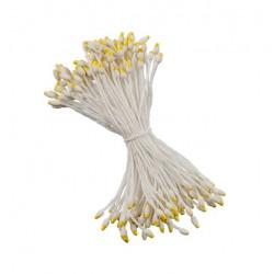 Белый-желтый, тычинки для цветов, 85шт. Fiorico