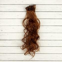 Св.каштан, кудри волосы для кукол 40см на трессе 50см цв.№30В SL
