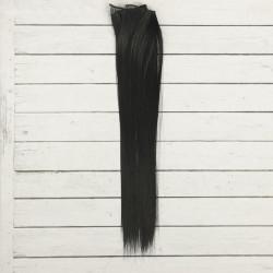 Темный, прямые волосы для кукол 40см на трессе 50см цв.№1 SL