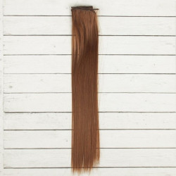 Каштан, прямые волосы для кукол 40см на трессе 50см цв.№12 SL