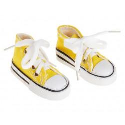 Кеды желтые, длина стопы 7,5см. Кукольная обувь