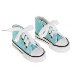 Кеды голубые, длина стопы 7,5см. Кукольная обувь