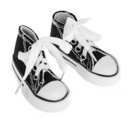 Кеды черные, длина стопы 7,5см. Кукольная обувь