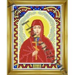 Валентина, набор для изготовления иконы круглыми стразами 10,5х14,5см 9цв. частичная выкладка