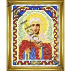 Антонина, набор для изготовления иконы круглыми стразами 10,5х14,5см 11цв. частичная выкладка