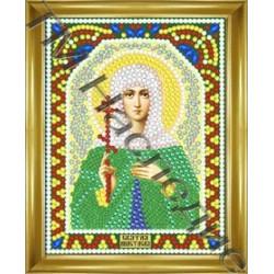 Анастасия, набор для изготовления иконы круглыми стразами 10,5х14,5см 10цв. частичная выкладка