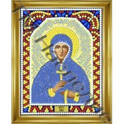 София, набор для изготовления иконы круглыми стразами 10,5х14,5см 8цв. частичная выкладка