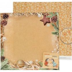 Приятных зимних вечеров, двусторонняя бумага для скрапбукинга Снежные истории 30,5*30,5см 180г/м