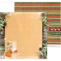 У зимнего окна, двусторонняя бумага для скрапбукинга Снежные истории 30,5*30,5см 180г/м АртУзор