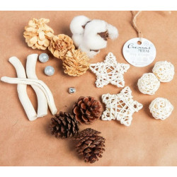 Снежная метель, набор природного декора АртУзор