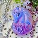 Единорог в цветах, пластиковая форма PC