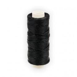 Черый, нитки для кожи вощёные, плоские 1мм, 25метров