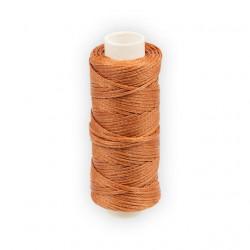 Св.коричневый, нитки для кожи вощёные, плоские 1мм, 25метров
