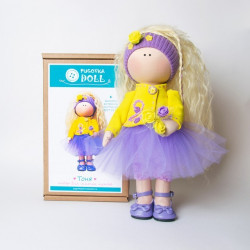 Тоня, набор для шитья куклы 35см. Pugovka Doll
