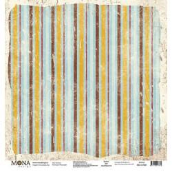 Полоска из коллекции Ретро кафе, лист односторонней бумаги 30х30см, 190гр/м MoNa design