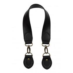 Черный, ремешок для сумок из экокожи 30х450мм. Zlatka