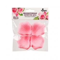 Розовый, декоративные лепестки роз(полиэстер), диаметр 5см, 100шт,  Mr. Painter