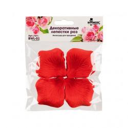 Красный, декоративные лепестки роз(полиэстер), диаметр 5см, 100шт,  Mr. Painter