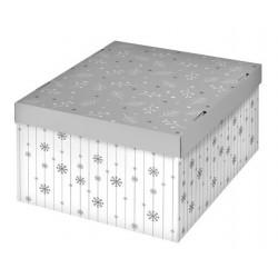 Зимнее утро, коробка складная 31х26х16см гофрокартон АртУзор