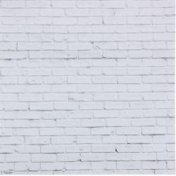 Кирпич белый, фотофон односторонний 45х45см картон
