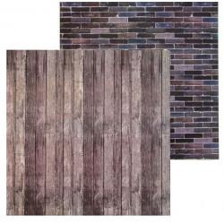 Кирпич–доски, фотофон двусторонний 45х45см картон