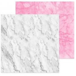 Мрамор белый–мрамор розовый, фотофон двусторонний 45х45см картон