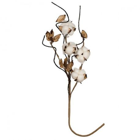 Веточка хлопка, декоративный элемент для флористики 50см, 1шт. Blumentag