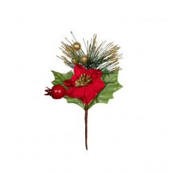 Веточка новогодняя, декоративный элемент для флористики 18см, 1шт. Blumentag