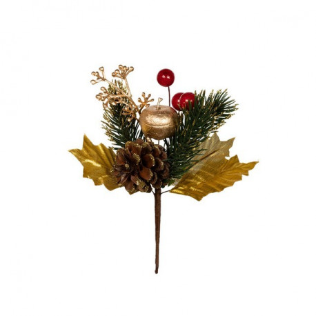 Веточка новогодняя, декоративный элемент для флористики 15см, 1шт. Blumentag