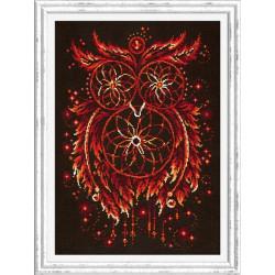 Пламя души.Ловцы снов, набор для вышивания крестом 29х40см мулине хлопок 8цв.+6 канва Aida№14 ЧИ