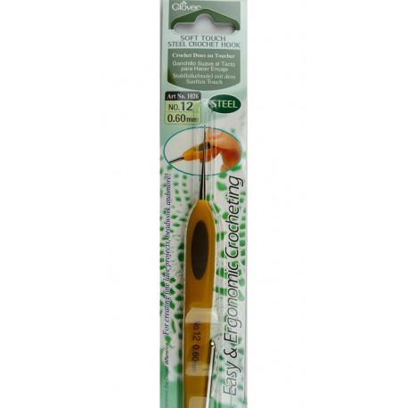 Крючок для вязания №0.60мм металл Clover