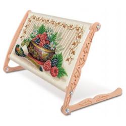 Пяльцы-рамка для вышивания крестом и бисером 45х30см, бук. Gamma Premium