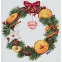 Венок с апельсином и корицей, набор для вышивания крестиком, 27х27см, 31цвет Panna