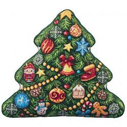 Ёлка(подушка), набор для вышивания крестиком,44х40см, 27цветов Panna