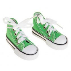 Кеды зеленые, длина стопы 7,5см. Кукольная обувь