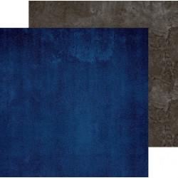 Синий-серый, фотофон двусторонний 45х45см картон