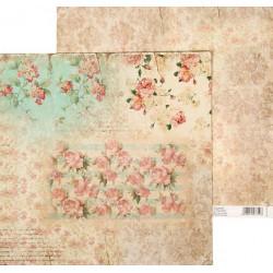 Ностальгия, двусторонняя бумага для скрапбукинга 30,5*30,5см 180г/м АртУзор