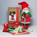 Новогодняя кукла, набор для шитья куклы. Pugovka Doll