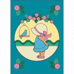 Девочка, набор для раскрашивания цветным песком16,5х23см Hobbius