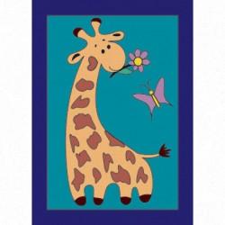 Жираф, набор для раскрашивания цветным песком16,5х23см Hobbius