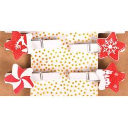 Счастливый Новый Год, прищепки декоративные 4шт. АртУзор